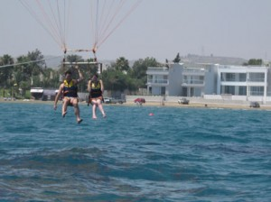 Getting Dunked - Paragliding